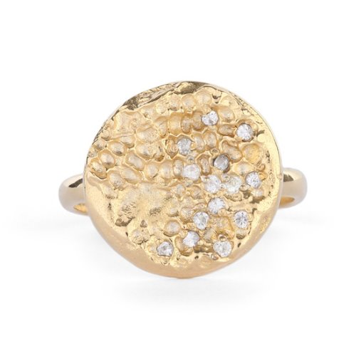 SAPPHIRE SET CRATER RING - GOLD