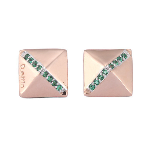 PYRAMID EMERALD EARRINGS