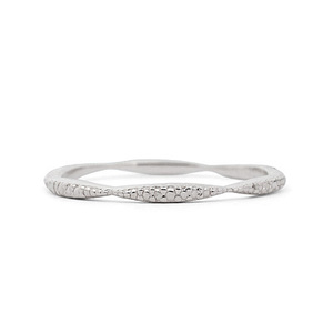 WAVE TEXTURE BAND R . WHITE[ 14K ]