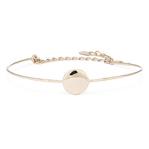 PLAIN COIN WIRE BRACELET