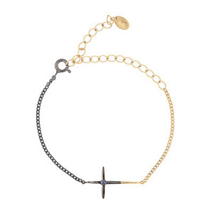COLOR BLOCK CROSS BRACELET