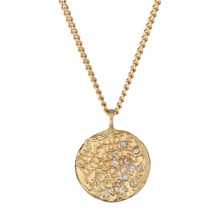 SAPPHIRE SET CRATER NECKLACE - GOLD