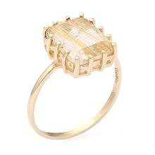 GOLD RUTILATED QUARTZ 14K R[ 14K or SILVER ]