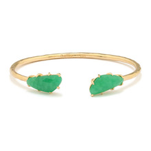 HAMMERED JADE SV BANGLE