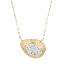 TWO-TONE TEARDROP 14K NECKLACE